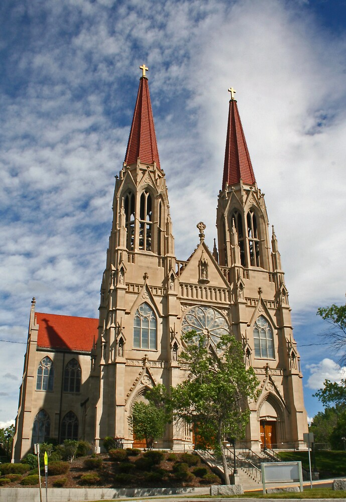 St Helena Cathedral, Montana by Patricia Shriver