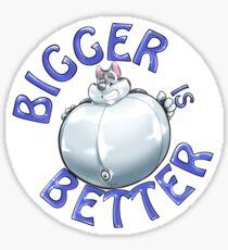 Bigger is Better. Husky Pooltoy Sticker
