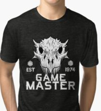 Game Master Fantasy Dragon Skull Tri-blend T-Shirt