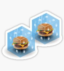 Cheeseburger in a Pair-a-Dice Sticker