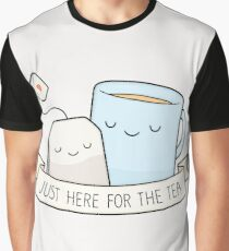 Just Here For The Tea Graphic T-Shirt