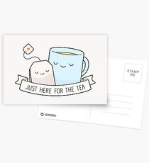 Just Here For The Tea Postcards
