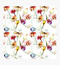 Seamless pattern with wild flowers Photographic Print