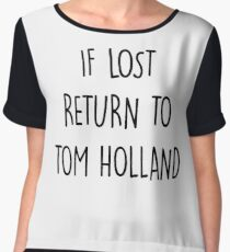 if lost return to tom holland Chiffon Top