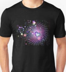 Rainbow Hearts At Night T-Shirt