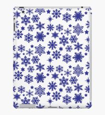 isolated  snowflackes and stars iPad Case/Skin