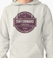 Ten Forward - Rustic Logo Design Pullover Hoodie