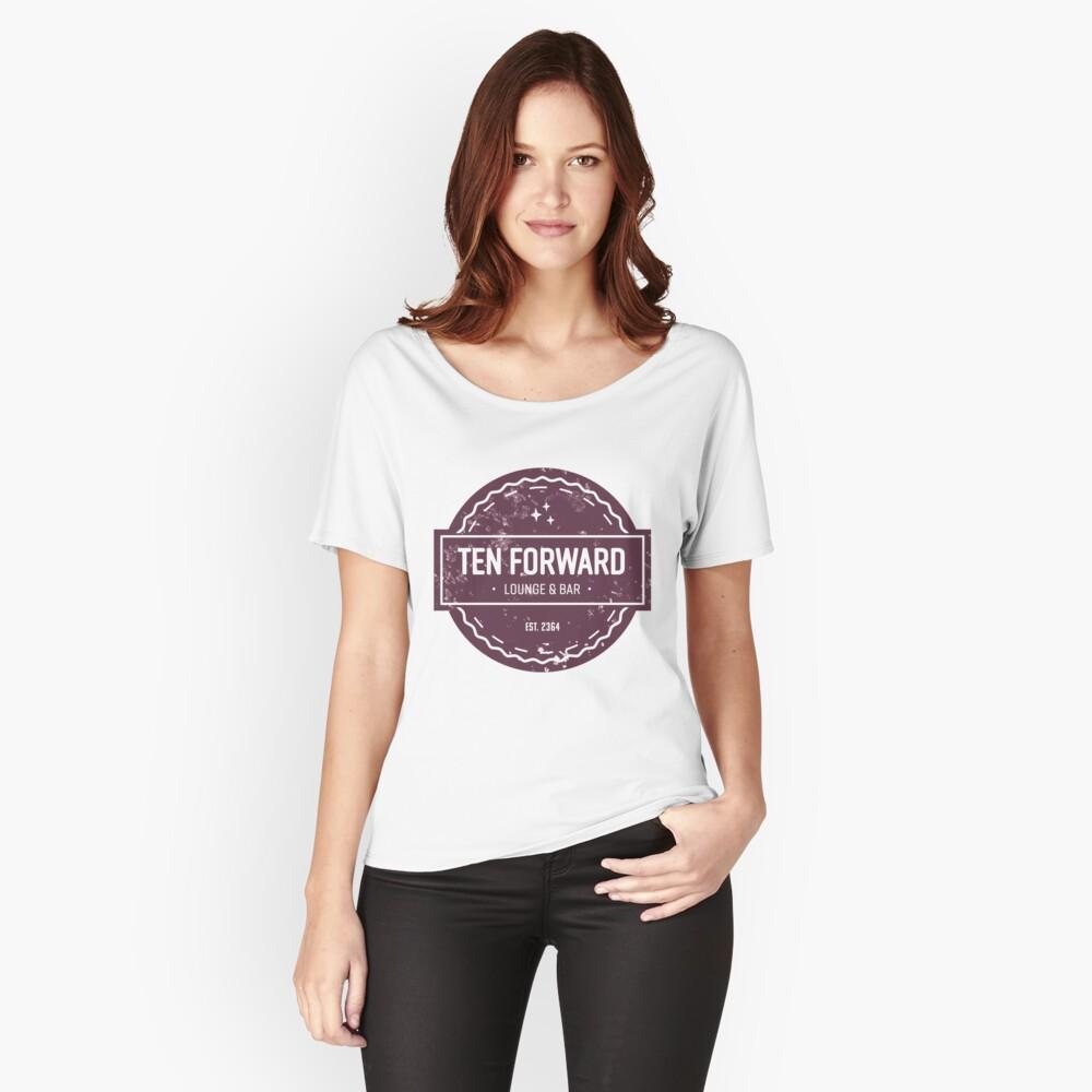 Zehn Vorwärts - Rustikales Logo Design Loose Fit T-Shirt