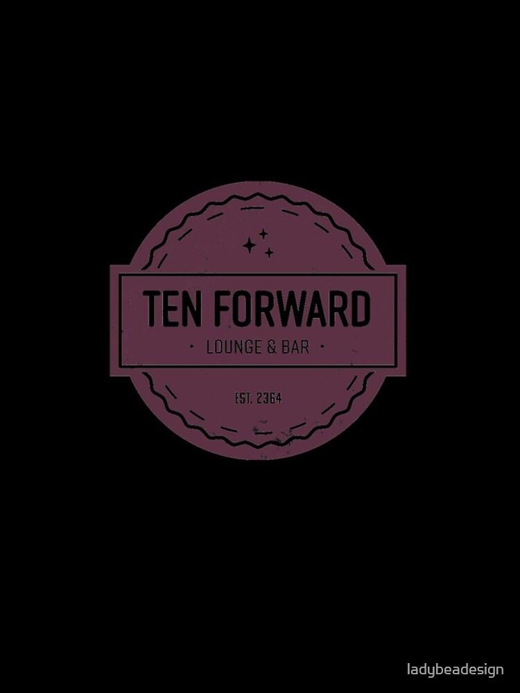 Zehn Vorwärts - Rustikales Logo Design von ladybeadesign