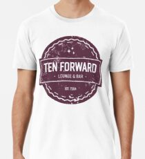 Ten Forward - Rustic Logo Design Men's Premium T-Shirt
