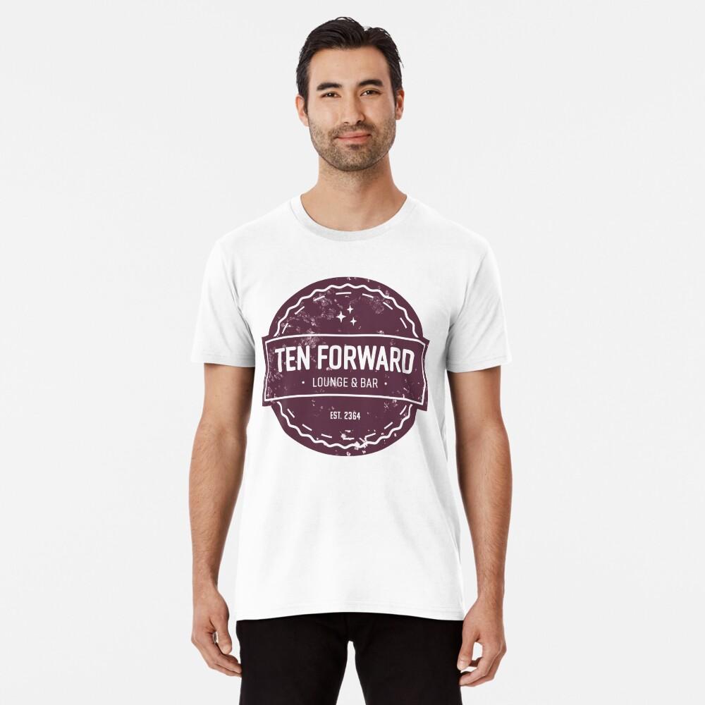 Zehn Vorwärts - Rustikales Logo Design Premium T-Shirt
