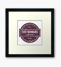 Ten Forward - Rustic Logo Design Framed Print