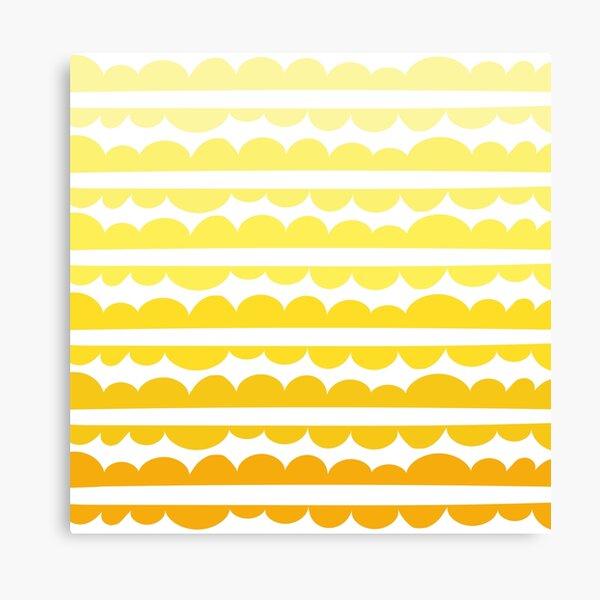 Mordidas Gradient Yellow  Canvas Print