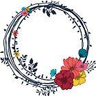 «Boho Florals Nr. 2 - Corona, brillante» de MonJaro