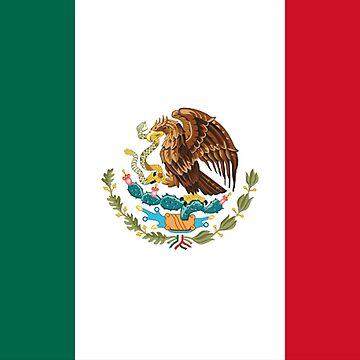 MEXICO, MEXICAN, Mexican Flag, FULL COVER, Flag of Mexico, Bandera de México, Pure & simple by TOMSREDBUBBLE