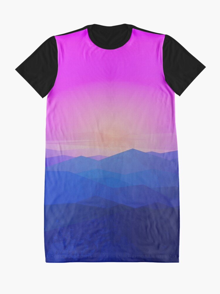 Alternate view of Australia mountains Graphic T-Shirt Dress