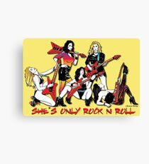 Only Rock & Roll Canvas Print