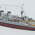 HMS Hood 1937 - Stern To Bow Technical by chrissnook