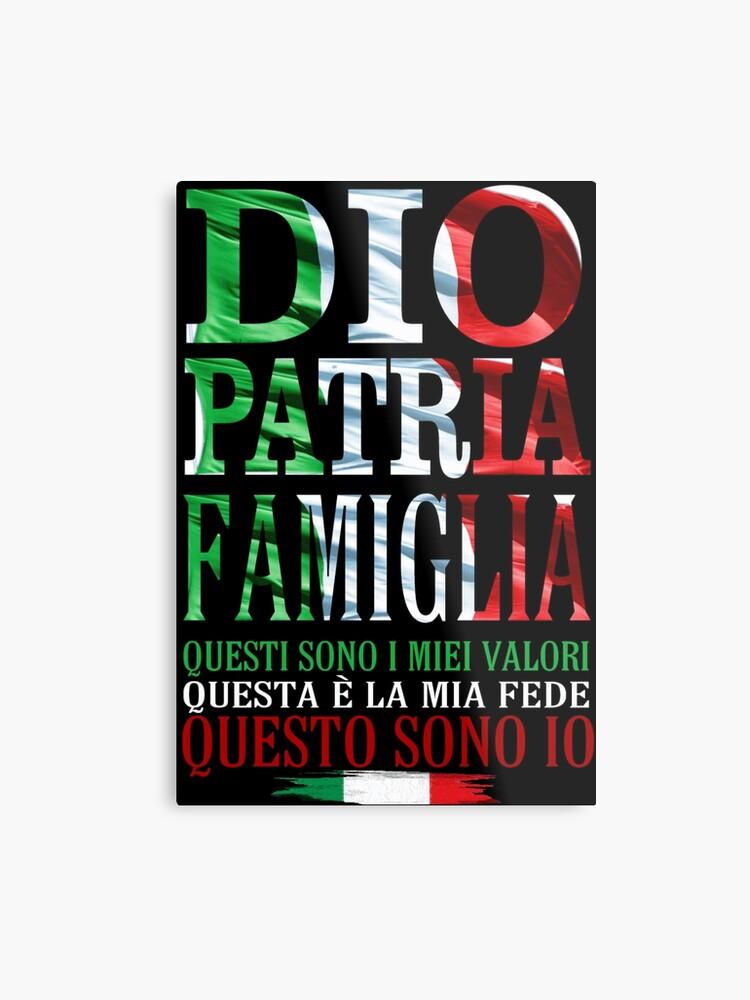 buy online 7a71b f5c02 DIO, PATRIA E FAMIGLIA | Metal Print
