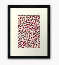 Organic Petals Pattern Magenta Gray Framed Print