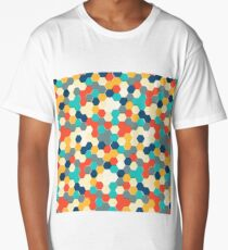 Hexagon stamp Long T-Shirt