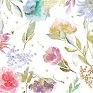 Shelby Watercolor Flowers by mindydidit