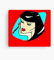 Vamp Artist with Brush Canvas Print