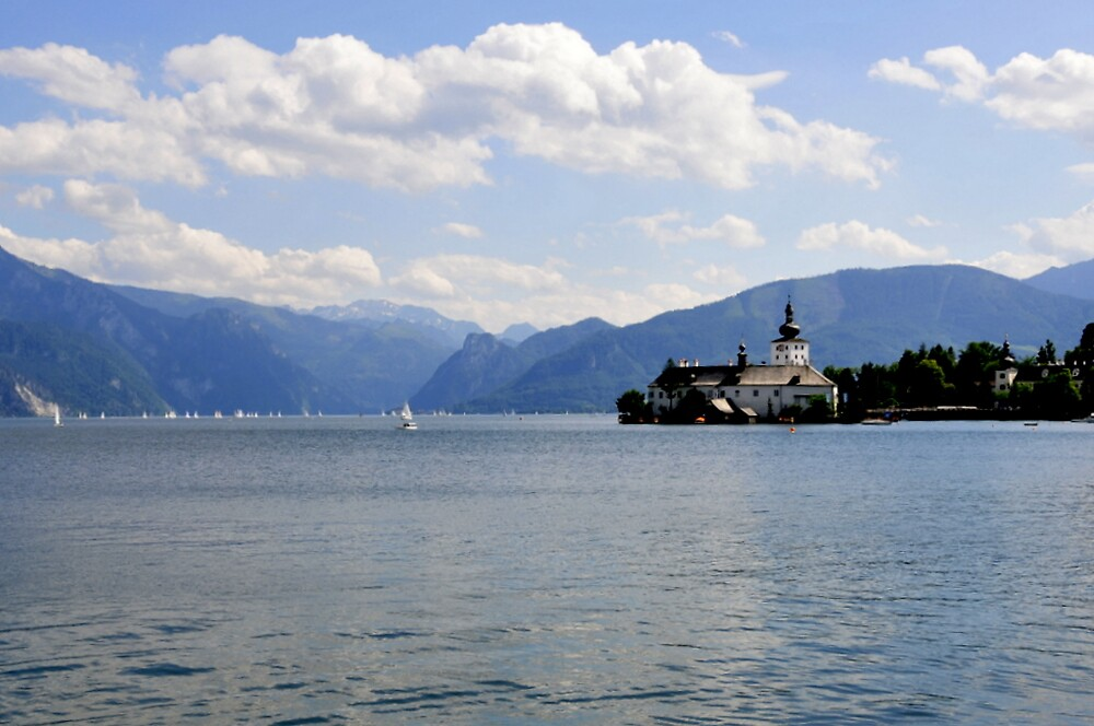 Schloss Orth im Traunsee - Castle Orth in the Lake Traun by bertspix