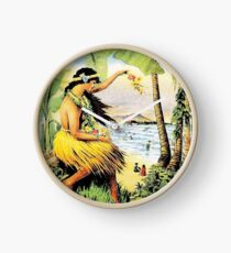 HAWAII : Vintage Honolulu Mid-Pacific Carnival Print Clock