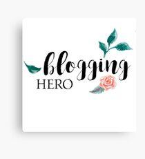 Blogging Hero Canvas Print