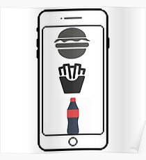 IPhone Fast-Food Poster