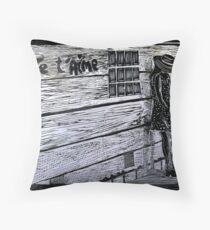 Je'taime-Woodcut Throw Pillow