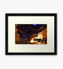 Rendezvous in Space Framed Print