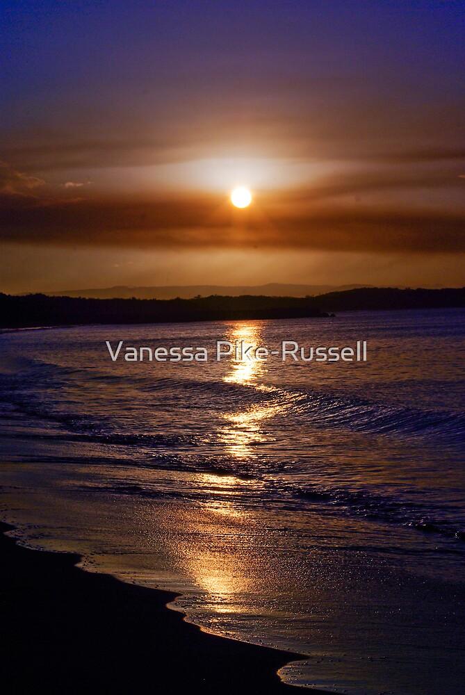 Travel, QLD Sunshine Coast: Sunset on Noosa Beach by Vanessa Pike-Russell