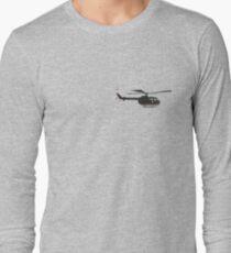 Black German helicopter Bo105  T-Shirt