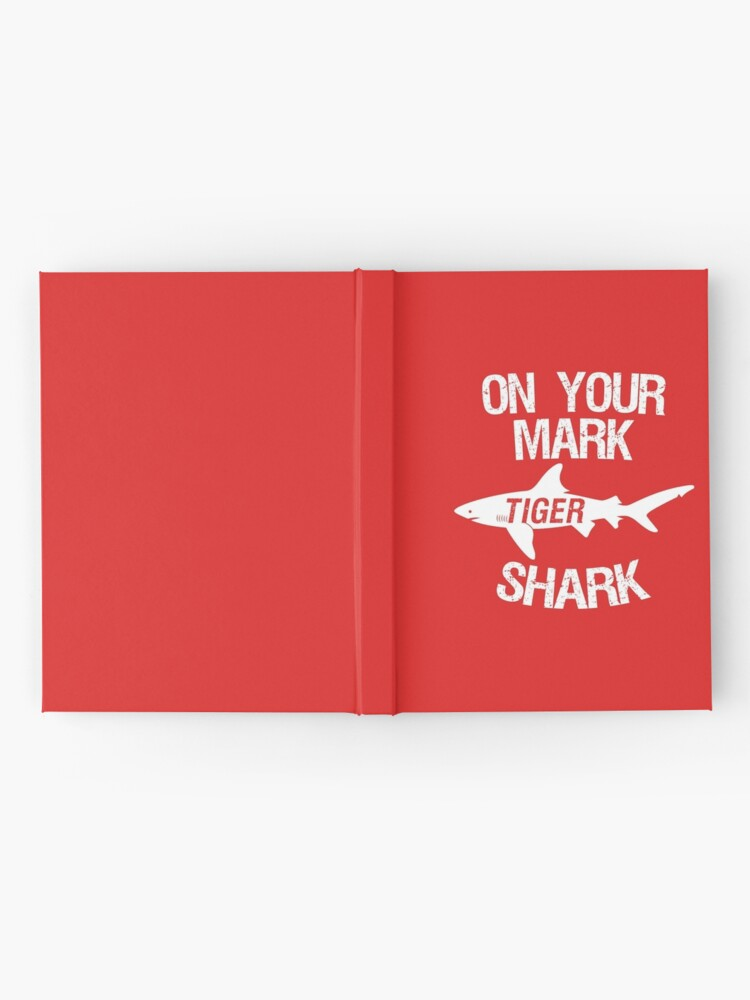 Alternate view of On Your Mark Tiger Shark - Barron Tshirt Hardcover Journal