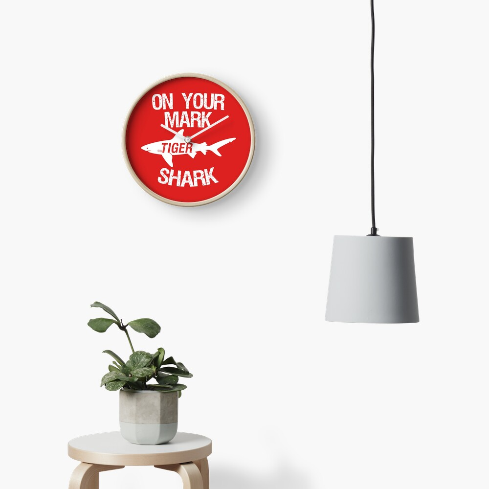 On Your Mark Tiger Shark - Barron Tshirt Clock