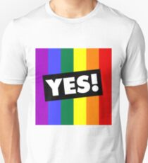 YES! to Australian Marriage Equality (Rainbow) Unisex T-Shirt