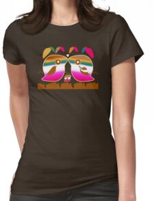Tropical Love Birds Womens Fitted T-Shirt