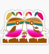 Tropical Love Birds Sticker