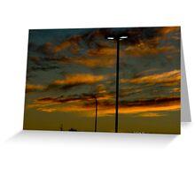 Carpark Sunset 1 Greeting Card