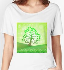 Green Tree Women's Relaxed Fit T-Shirt