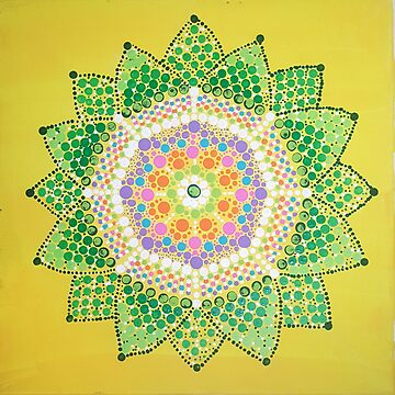 Happiness Wabi-Sabi Life - Buddhist Mandala by rebeccagalardo