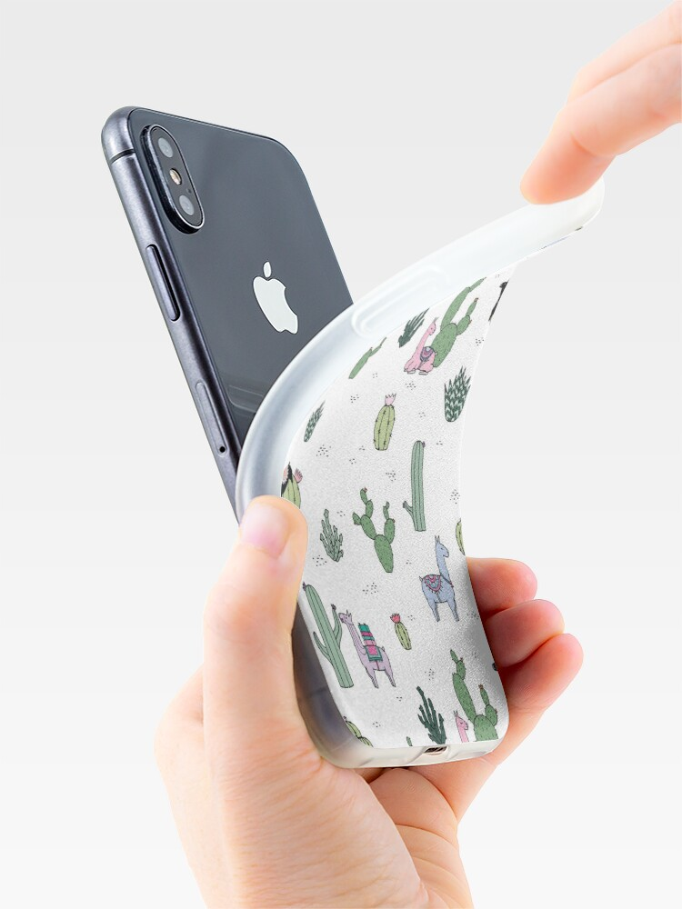 Alternative Ansicht von Kakteen Lamas iPhone-Hüllen & Cover