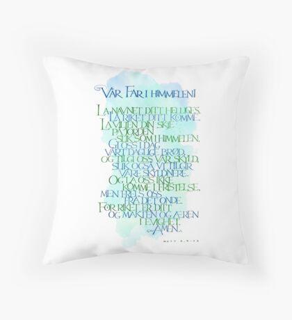 Vår Far i himmelen Throw Pillow