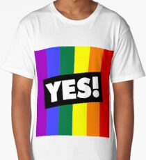 YES! to Australian Marriage Equality (Rainbow) Long T-Shirt
