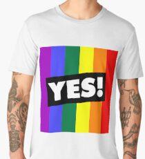 YES! to Australian Marriage Equality (Rainbow) Men's Premium T-Shirt
