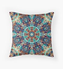 Teal mosaic Throw Pillow