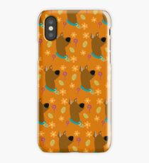 Scooby Doo Pattern - Orange iPhone Case/Skin