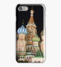 Red Square, Kremlin, Moscow at night  iPhone Case/Skin